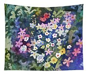 Watercolor - Alpine Wildflower Design Tapestry