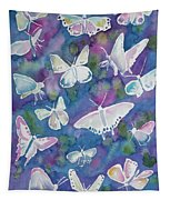 Watercolor - Butterfly Design Tapestry
