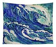 Watercolor - Ocean Wave Design Tapestry