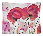Watercolor - Poppy Portrait Tapestry