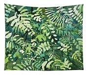 Watercolor - Rainforest Canopy Design Tapestry