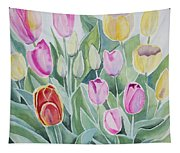 Watercolor - Spring Tulips Tapestry