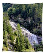 Waterfall In The Mountains. Tapestry