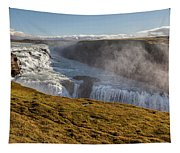 Waterfall Mist Of Iceland Tapestry