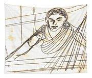 Weaver Working At Her Weaving Machine Tapestry