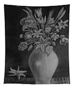White Bouquet Tapestry