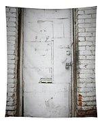 White Steel Factory Door Chinatown Washington Dc Tapestry by Edward Fielding