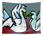 White Swans Tapestry