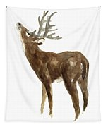 White Tailed Deer Stag With Head Tilted Upwards Tapestry