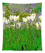 White Tulips Tapestry
