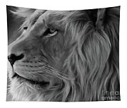 Wild Lion Face Tapestry