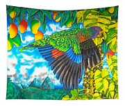 Wild Parrot Tapestry