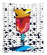 Wine And Matzo- Art By Linda Woods Tapestry