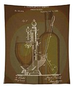 Wine Bottle Corking Patent Tapestry