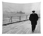 Winston Churchill At Sea Tapestry