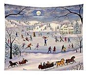 Winter Skating Tapestry