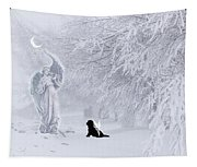 Winter Solstice Holiday Card Tapestry