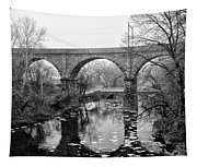 Wissahickon Creek - Reading Viaduct In Black And White Tapestry