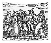 Witches Dancing With The Devil, Illustration From Compendium Maleficarum Tapestry
