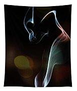 Wolf Cub - Smoke Photography Tapestry