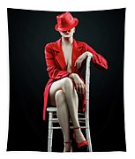 Woman In Red Tapestry