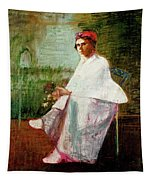 Woman In White Tapestry