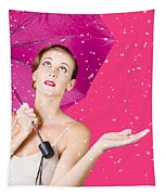 Woman With Umbrella Tapestry