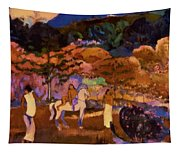Women And White Horse 1903 Tapestry