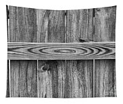 Wood Grain Black And White Tapestry