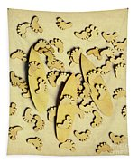 Wooden Wave Riders Tapestry