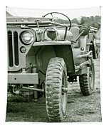 World War II Era Us Army Jeep Tapestry