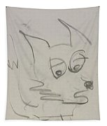 Worried Fox Sketch Tapestry