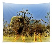 Wrapped Lion Tapestry