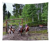 Wyoming Cowgirl Trio Tapestry