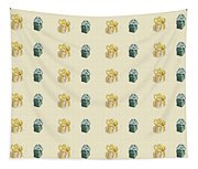 Yellow And Green Present Pattern Tapestry