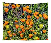 Yellow Poppies Of California Tapestry