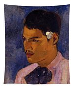 Young Man With A Flower Behind His Ear 1891 Tapestry