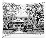 Zeta Tau Alpha Sorority House, Purdue University, West Lafayette, Indiana, Fine Art Print Tapestry