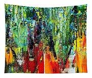 Forest Summer Rain Tapestry