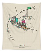 Pierre South Dakota City Map Drawing By Inspirowl Design