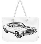 1971 Chevrolet Chevelle Ss Illustration Weekender Tote Bag