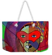 394 - Challenging Woman With Mask Weekender Tote Bag