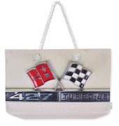 427 Turbo Jet Corvette Emblem Weekender Tote Bag