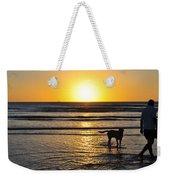 A Mans Best Friend Sunset Weekender Tote Bag