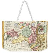 A Truly Fascinating 1772 Map Of The Northwestern Parts Of North America By Robert De Vaugondy And T Weekender Tote Bag