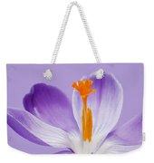 Abstract Purple Crocus Weekender Tote Bag