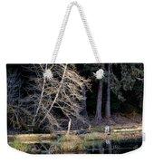 Alder Tree Reflection In Pond Weekender Tote Bag