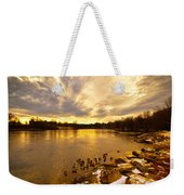 Androscoggin River Between Lewiston And Auburn Weekender Tote Bag
