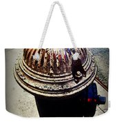 Antique Fire Hydrant - Blue Tones Weekender Tote Bag
