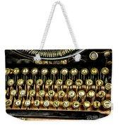 Antique Keyboard Weekender Tote Bag